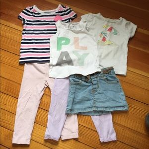 6 Piece Toddler/Baby Girl Spring Bundle 24M/2T